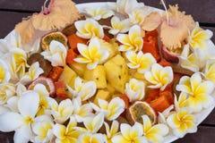 Fin de salade de dessert de fruit  Images libres de droits