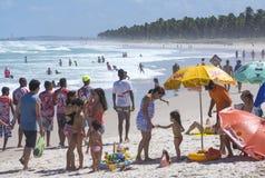 Fin de semana del día de fiesta en la playa Foto de archivo
