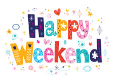 Fin de semana feliz stock de ilustración
