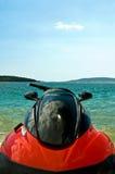 Fin de ski de jet d'eau vers le haut Image libre de droits