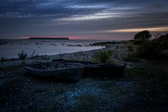 Fin de soirée 14 du Gotland images libres de droits