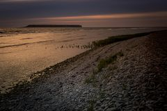Fin de soirée 9 du Gotland photos stock
