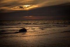 Fin de soirée 10 du Gotland image libre de droits