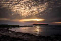 Fin de soirée du Gotland image libre de droits
