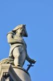 Fin de statue de Nelsons vers le haut Image libre de droits