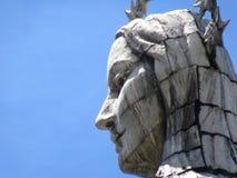 Fin de statue de Quito images stock