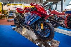 Fin de support de BÂTON de F-3 de système mv Agusta de moto, 2013 Images libres de droits