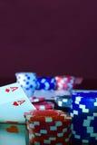 Fin de support de ` de Texas Hold photo libre de droits
