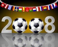 fin de support du football de 2008 équipes nationales Photos libres de droits