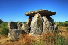 Fin de support Gouveia d'orque de Pedra DA de dolmen Photographie stock