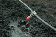 Fin de système d'irrigation vers le haut Photographie stock libre de droits