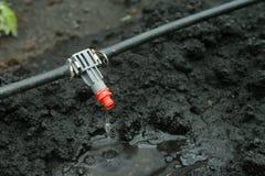 Fin de système d'irrigation vers le haut Photographie stock