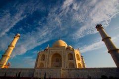 Fin de Taj Mahal vers le haut photos libres de droits