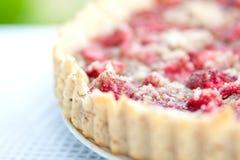 Fin de tarte de fraise vers le haut Image stock
