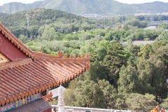 Fin de temple de chinois traditionnel  Photos stock
