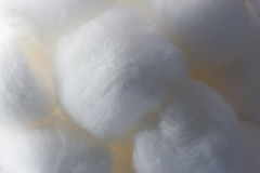 Fin de texture de bille de coton vers le haut Images stock