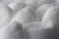 Fin de texture de bille de coton vers le haut Images libres de droits