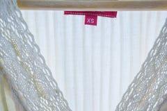 Fin de texture de toile femelle de fond de robe Photo libre de droits