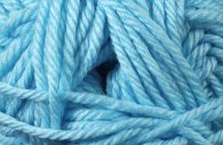 Fin de texture de fil de bleu glacier  Photographie stock