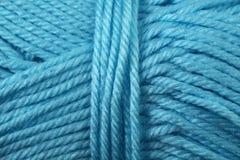Fin de texture de fil de bleu glacier  Image libre de droits