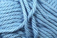 Fin de texture de fil de bleus layette  Photographie stock