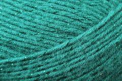 Fin de texture de fil de turquoise  Images libres de droits