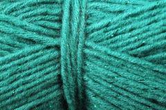 Fin de texture de fil de turquoise  Photographie stock