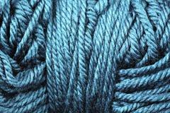 Fin de texture de fil de turquoise  Image stock