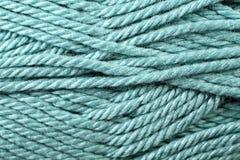 Fin de texture de fil de turquoise  Photographie stock libre de droits