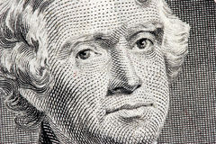 Fin de Thomas Jefferson vers le haut Images stock
