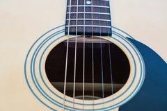 Fin de trou sain de guitare acoustique  Photos libres de droits
