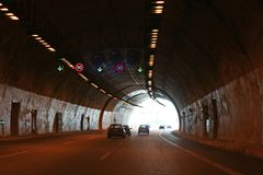 Fin de tunnel Images stock