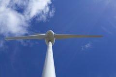 Fin de turbine de vent vers le haut Photographie stock