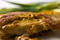 Fin de viande cuite assaisonnée Images stock