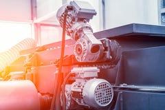 Fin des véhicules à moteur industrielle d'équipement de machine-outil, fond abstrait de métal ouvré de fabrication d'industrie image stock
