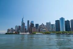 Fin du centre ville de Manhattan  Photos stock