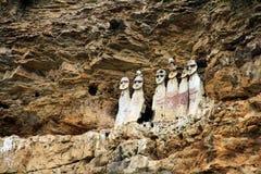 Fin du Pérou de sarkophage de Karajila Image libre de droits