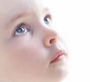 Fin du visage de l'enfant vers le haut Image libre de droits