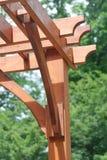 Fin en bois de pergola  Photos libres de droits