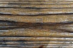Fin en bois de planche vers le haut de photo de texture avec une brûlure au fond Photo libre de droits