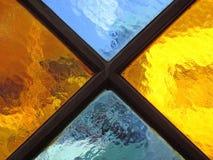 Fin en verre colorée de détail  Image libre de droits