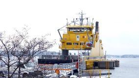 Fin Ferries ferry between Korpo and Houtskari island. stock footage