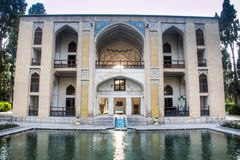 Fin Garden in Kashan, Iran. Is one of the most famous royal gardens of the country and the place where Amir Kabir was murdered stock photos