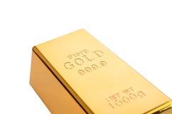 Fin guld Arkivfoton