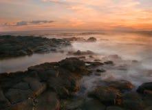 fin hawaii solnedgång Royaltyfri Fotografi