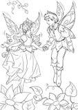 Fin heureuse de conte de fées du ` s de Thumbelina illustration stock