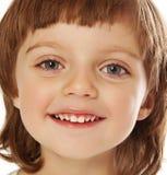Fin heureuse de verticale de petite fille vers le haut Photographie stock libre de droits