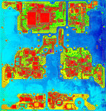 Fin infrarouge de carte avec des puces image libre de droits