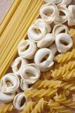 Fin italienne de pâtes vers le haut Images libres de droits
