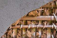 Fin japonaise de structure de mur  La surface de mur est ciment et Images libres de droits